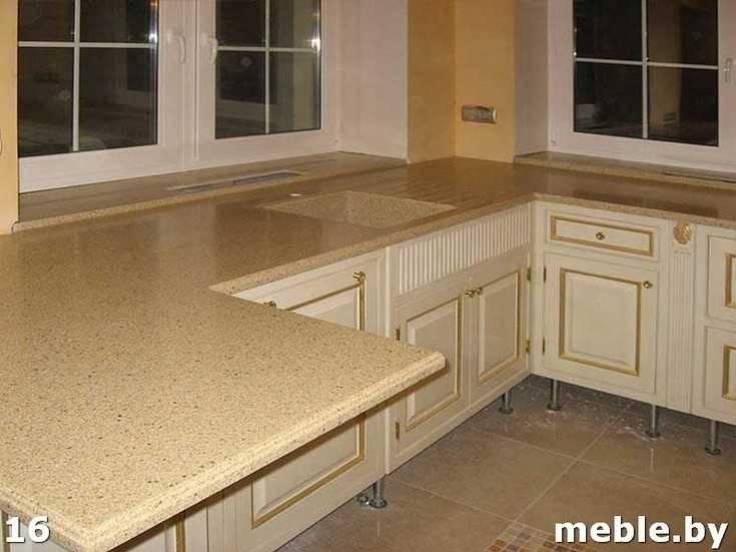 Кухня на заказ из камня. Мебель под заказ.