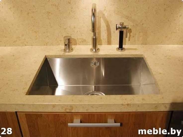 Мойка для каменной столешницы на кухни. Мебель на заказ.