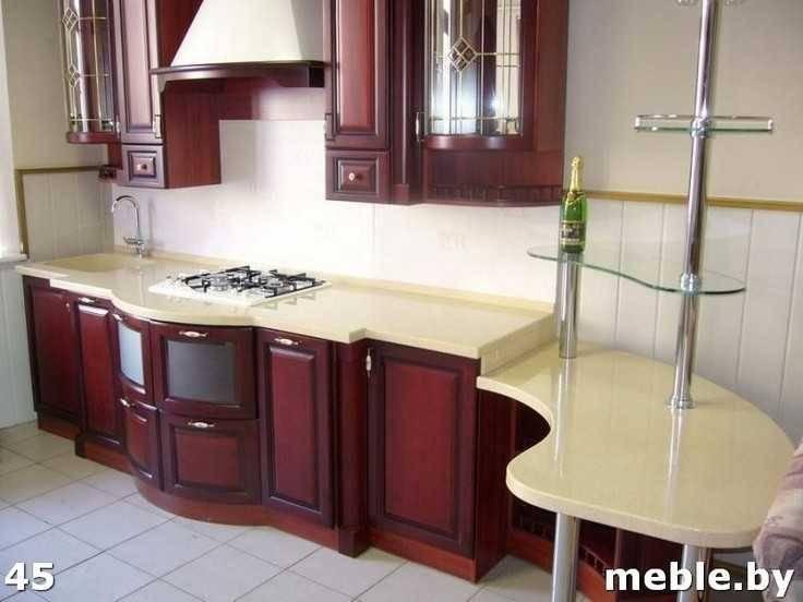 Кухня под заказ из искусственного камня. Мебель на заказ.