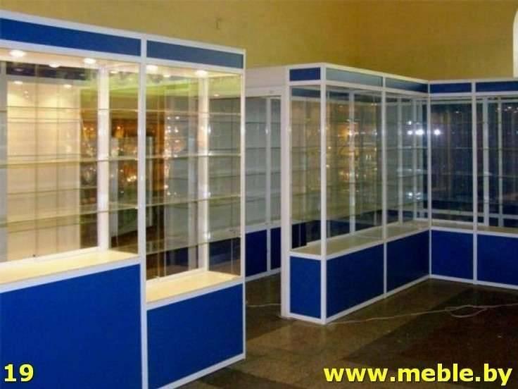 Торговое оборудование витрина из ДСП под заказ. Мебель под заказ.