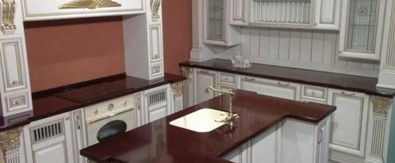 Искусственный камень в кухонной мебели. Мебель под заказ.