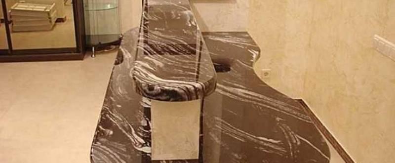 Барная стойка из искусственного камня. Мебель под заказ.